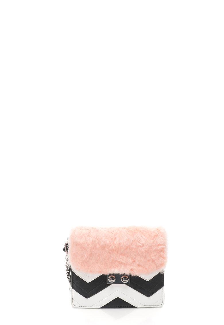 Geanta crossbody cu blana sintetica Gioseppo
