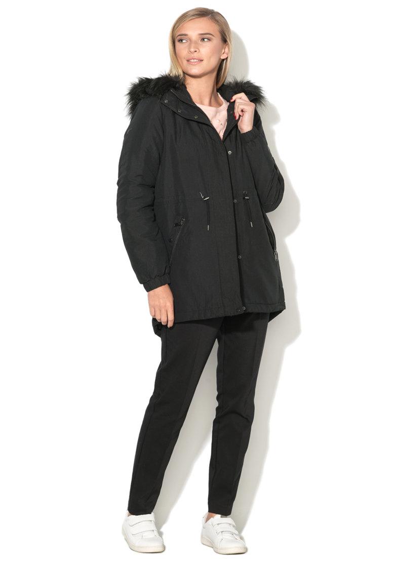 Jacheta parka cu garnitura detasabila de blana sintetica Candy Vero Moda