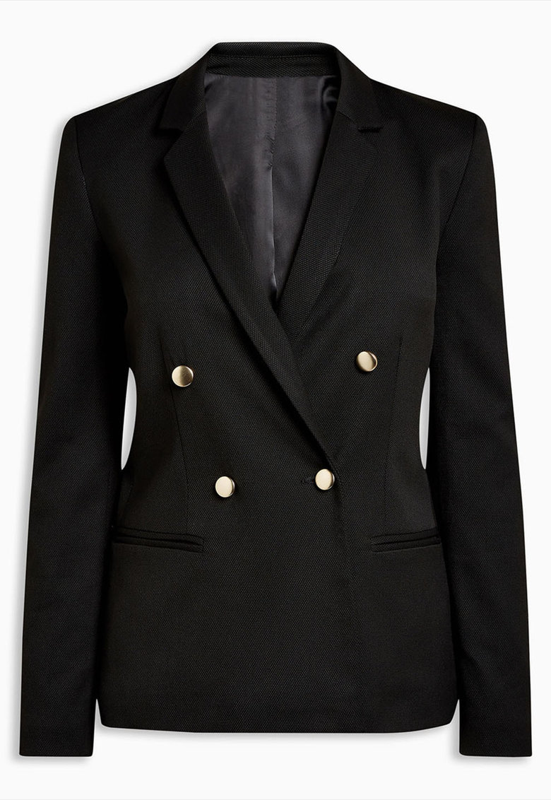 Jacheta texturata din pique cu nasturi NEXT