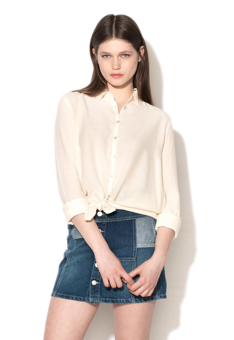 Camasa alb fildes Adriana Pepe Jeans London