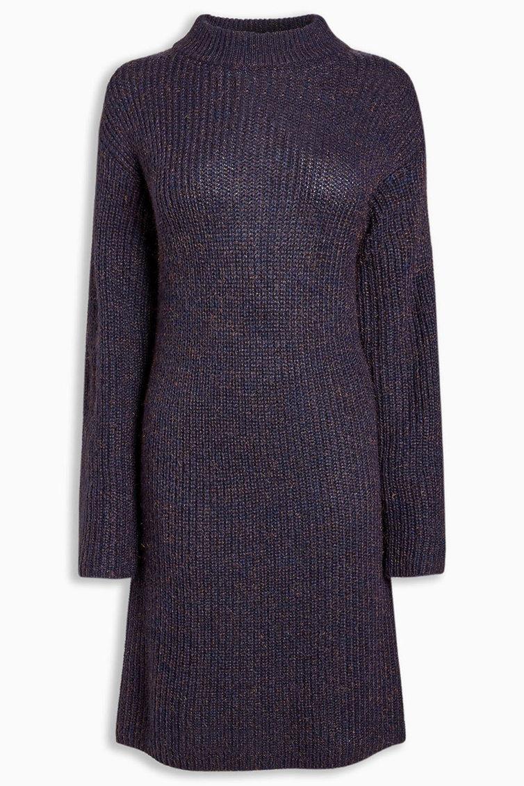 Rochie tip pulover cu insertii stralucitoare NEXT