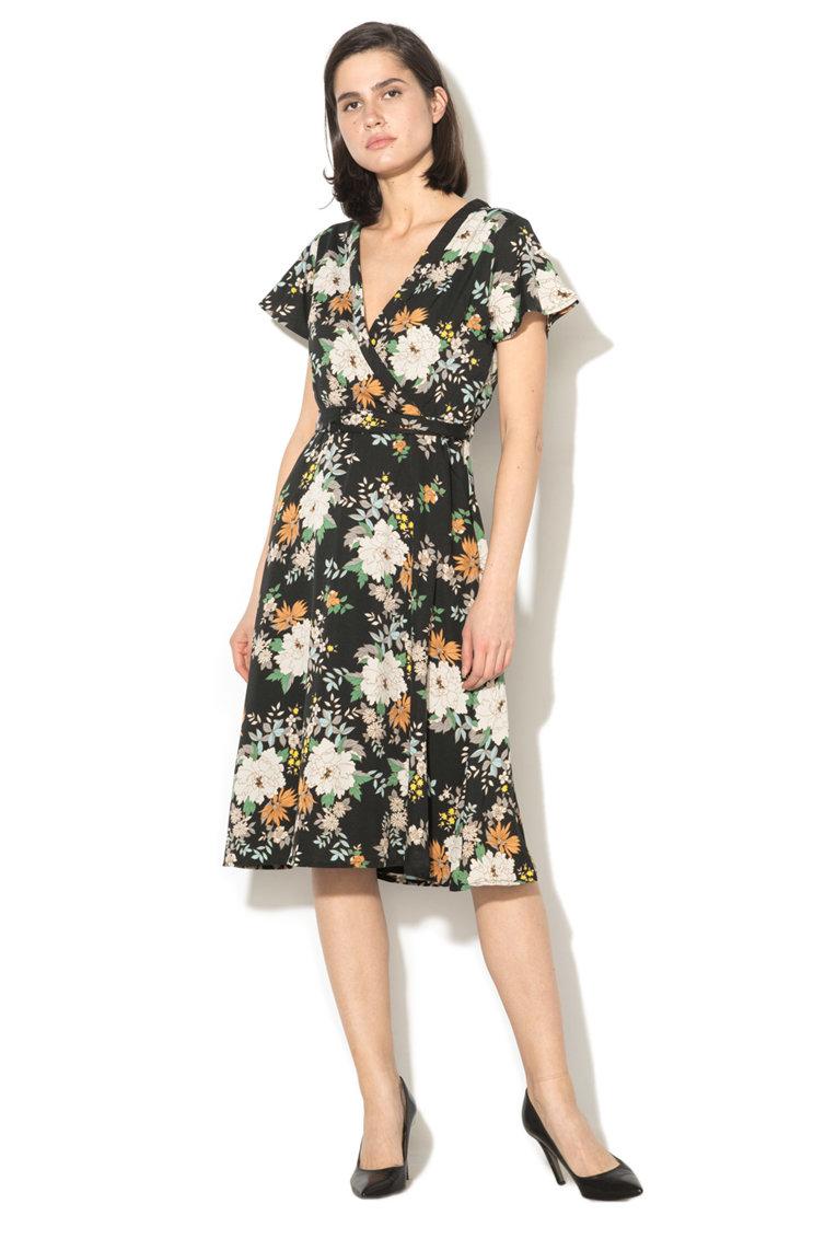 Rochie midi cu imprimeu floral Yumi