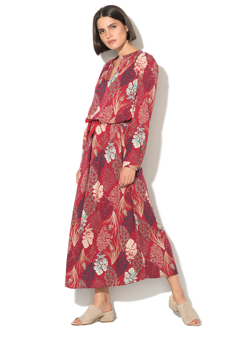 Rochie maxi cu imprimeu floral United Colors of Benetton
