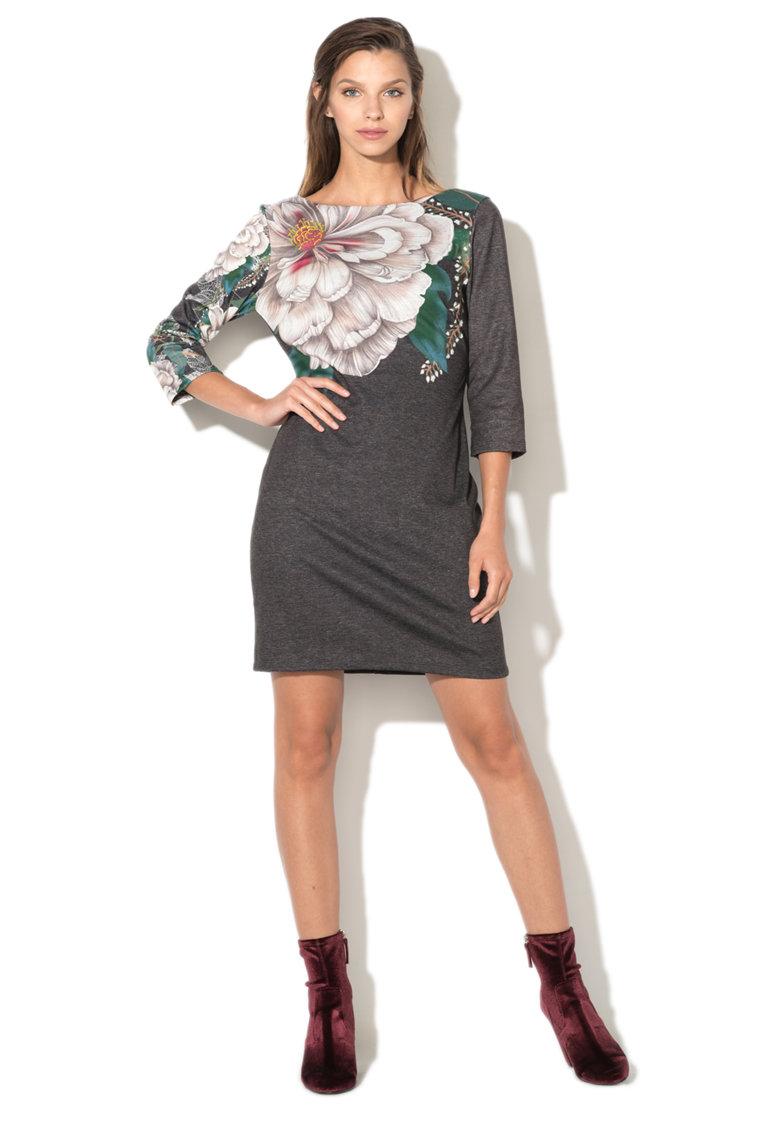 Rochie scurta cu model floral Pichi DESIGUAL