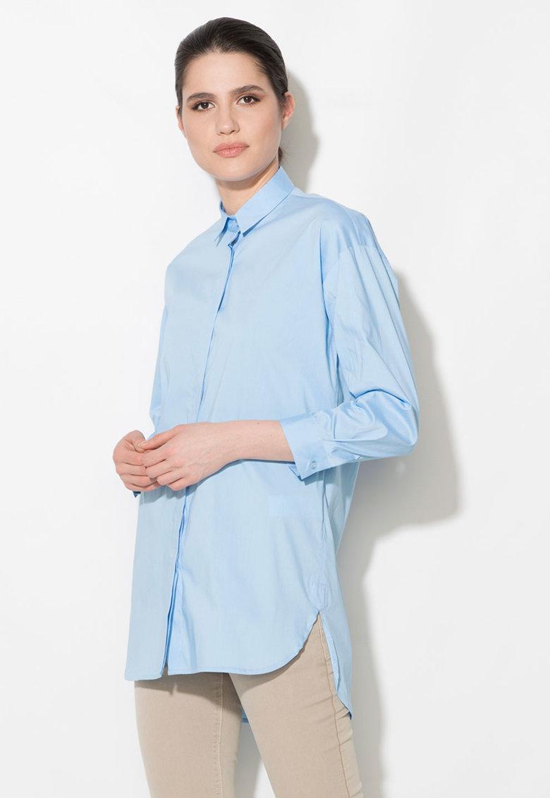 Camasa lunga albastru azur Zee Lane Denim
