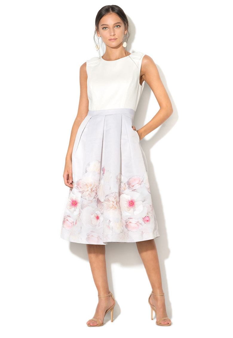 Rochie midi cu model floral Gilith Ted Baker