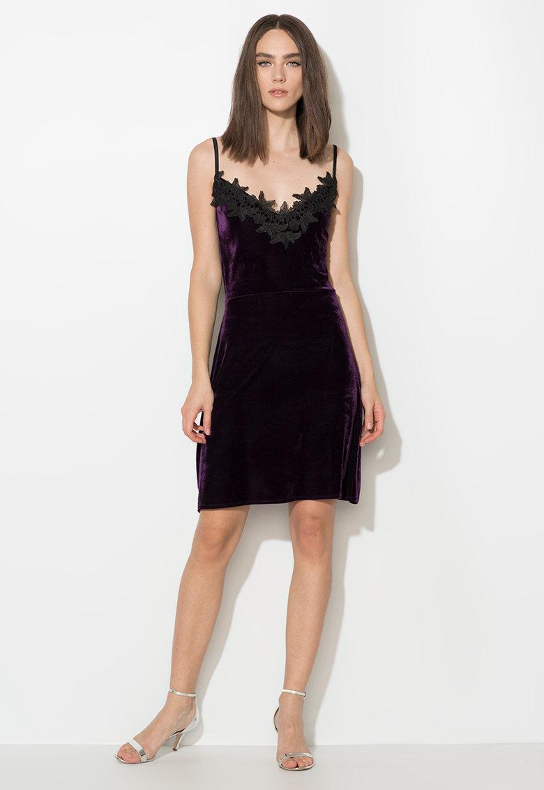 Rochie violet inchis catifelata Zee Lane Collection