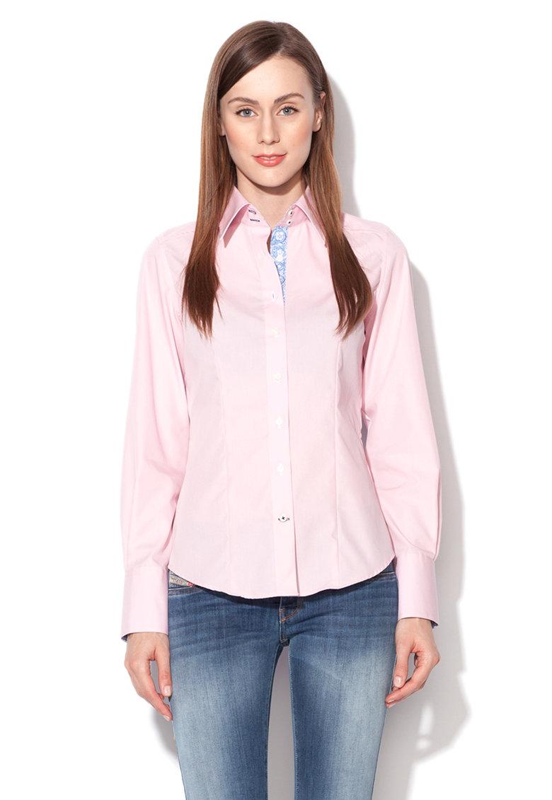 Camasa modern fit roz cu guler Kent Vincenzo Boretti