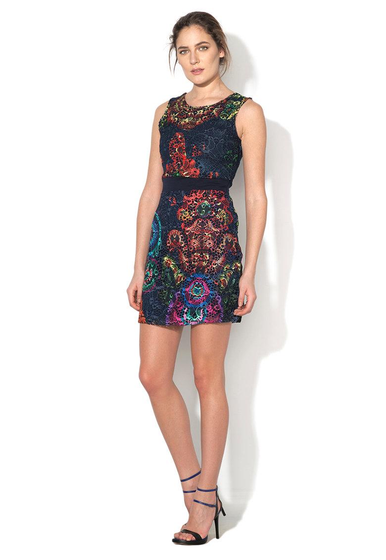 Rochie multicolora crosetata Be DESIGUAL