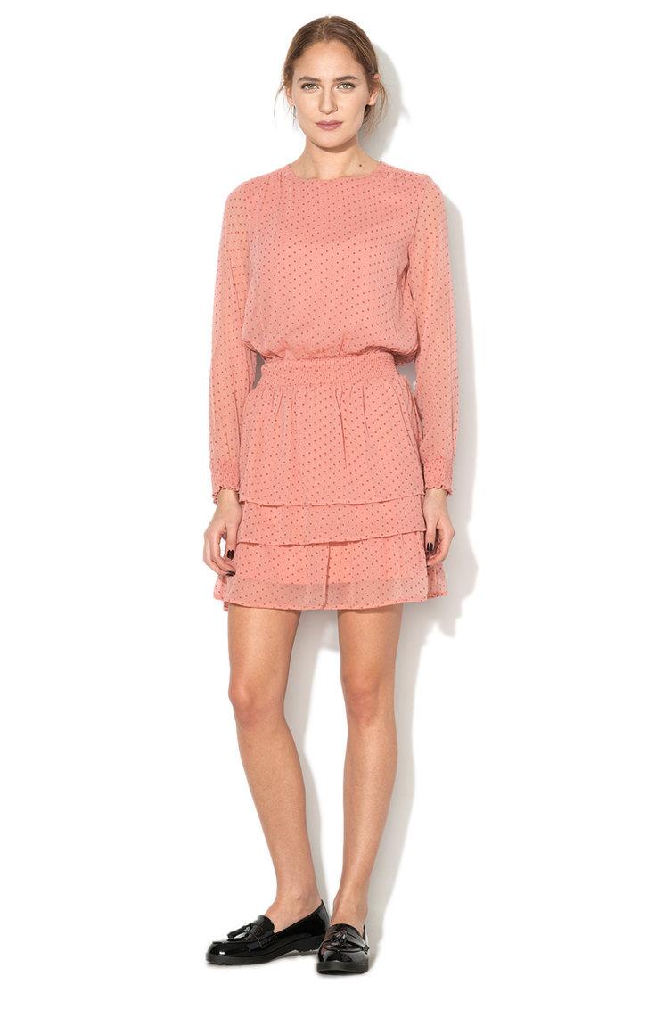 Rochie cu volane si buline Kim Vero Moda