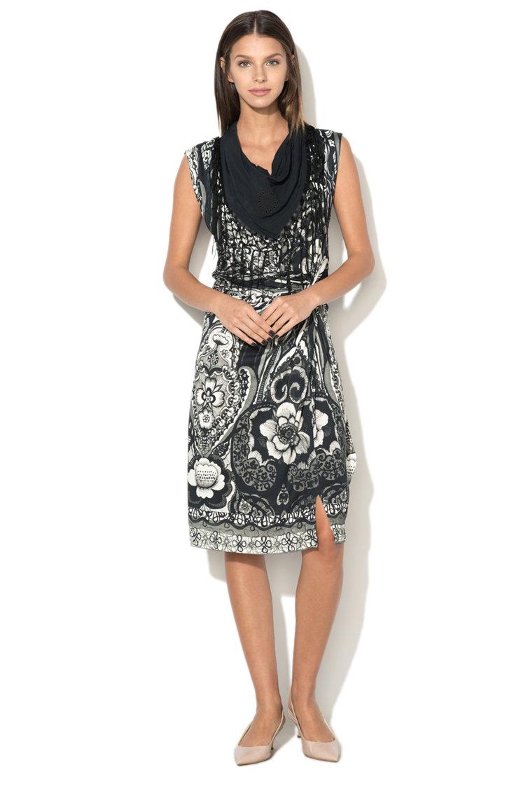 Rochie din jerseu cu imprimeu floral Estrella DESIGUAL