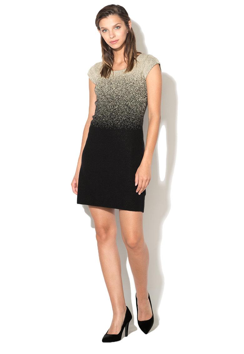 Rochie din tricot fin cu insertii de lurex Heather DESIGUAL