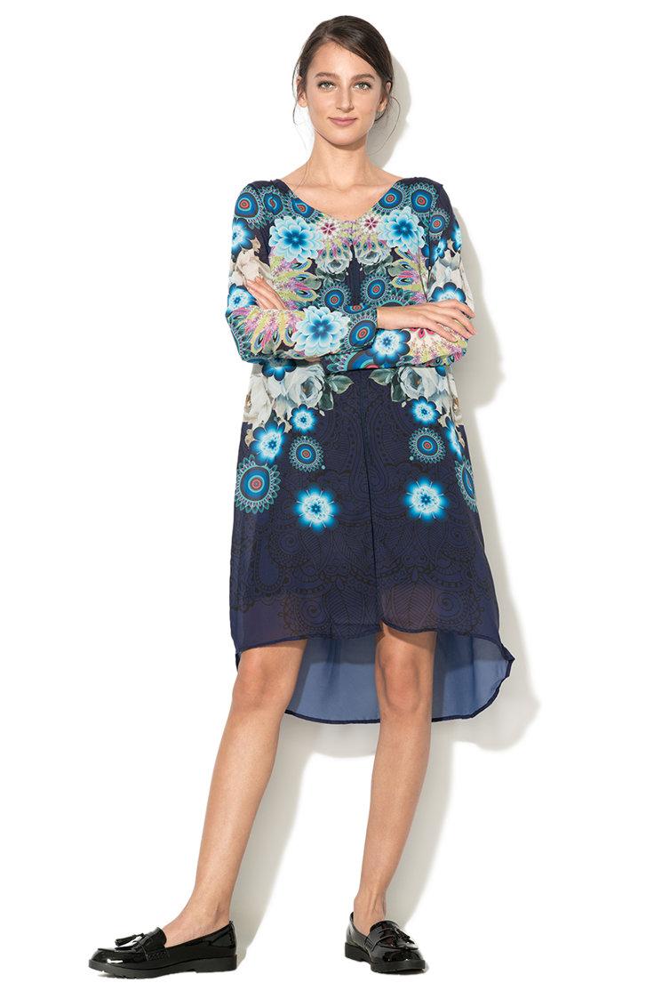 Rochie lejera cu imprimeu floral Justine DESIGUAL