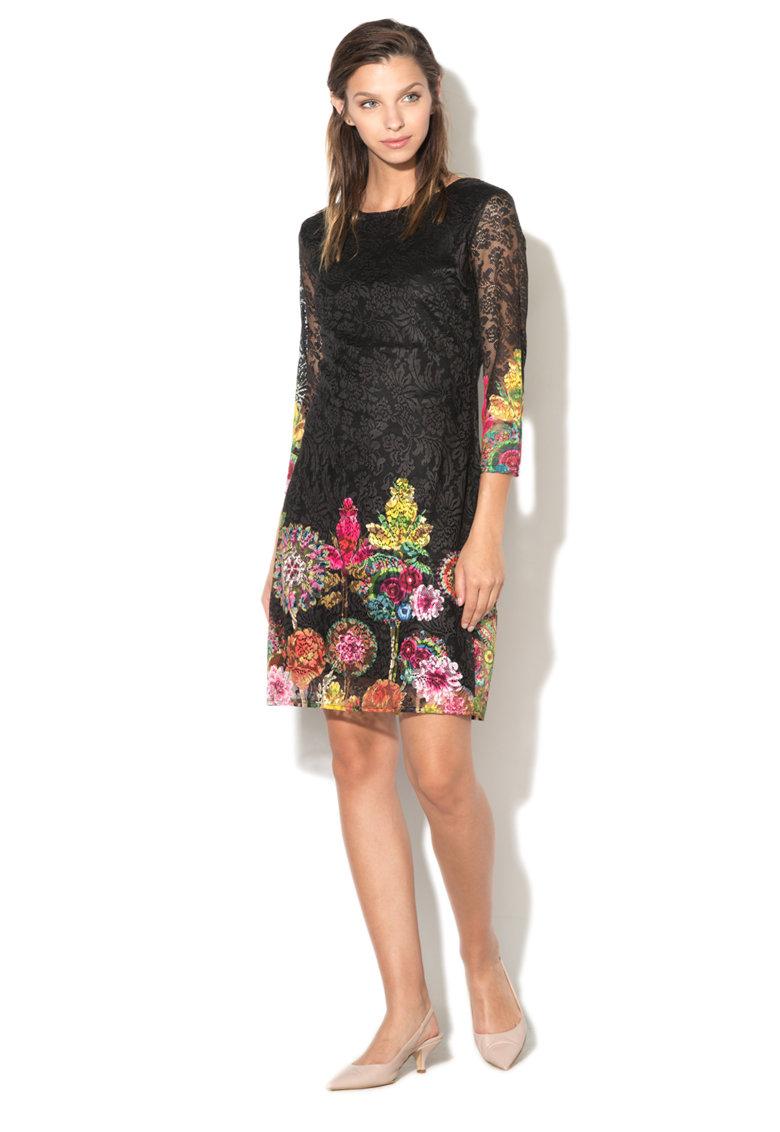 Rochie din dantela cu imprimeu floral Chipi DESIGUAL