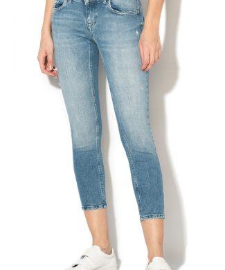 Blugi crop skinny cu efect modelator Dylan-jeansi-Only
