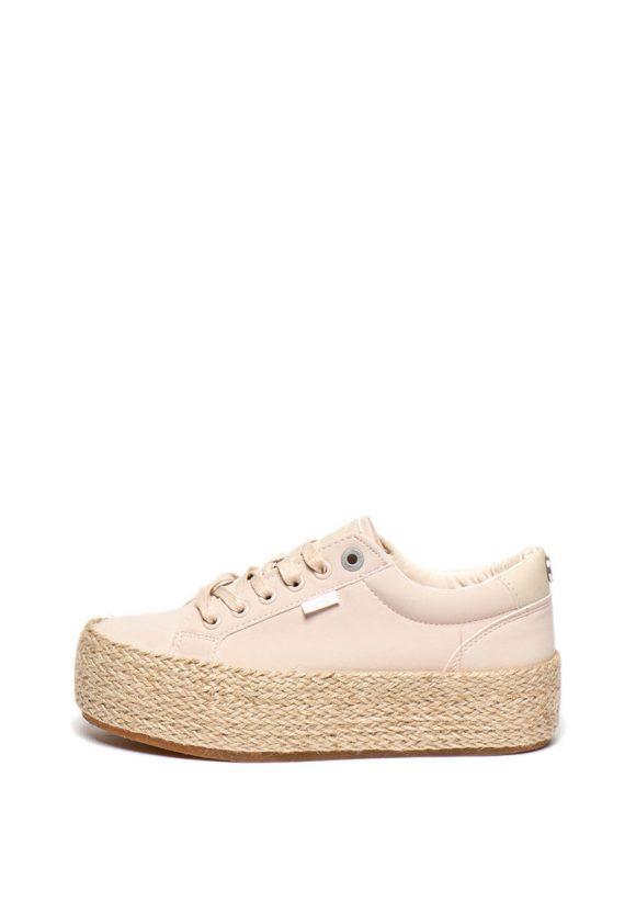Pantofi sport flatform de piele ecologica-tenisi-MTNG
