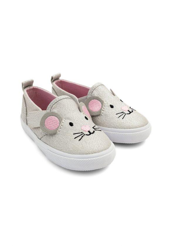 Pantofi slip-on cu model soarece-pantofi clasici-JoJo Maman Bebe