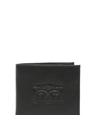 Portofel de piele cu logo-portofele si brelocuri-Levis