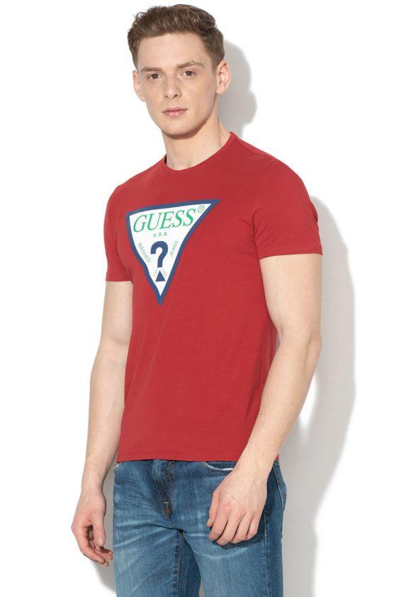 Tricou super slim fit cu logo-tricouri-GUESS JEANS