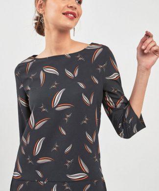 Bluza cu model si maneci medii-bluze-NEXT