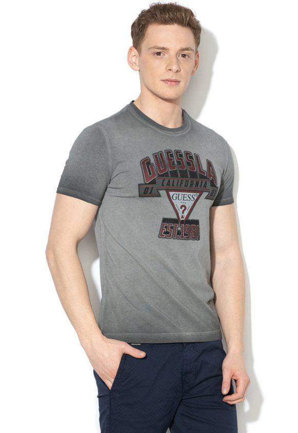 Tricou super slim fit cu imprimeu logo-tricouri-GUESS JEANS
