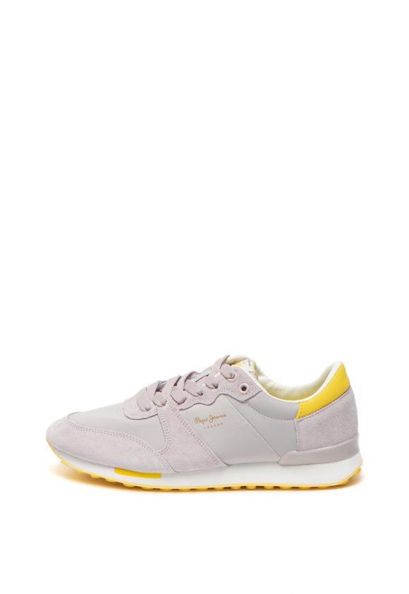 Pantofi sport cu garnituri de piele intoarsa Bimba Soft-tenisi-Pepe Jeans London