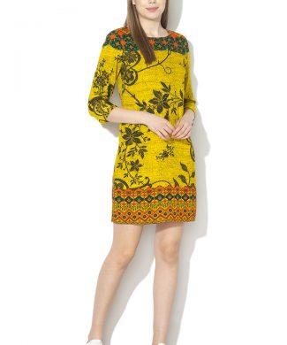 Rochie mini cu imprimeu floral Astrid-rochii-DESIGUAL