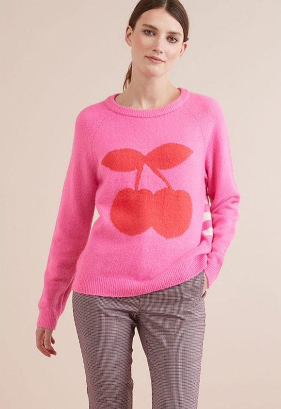 Pulover cu model grafic-tricotaje-NEXT