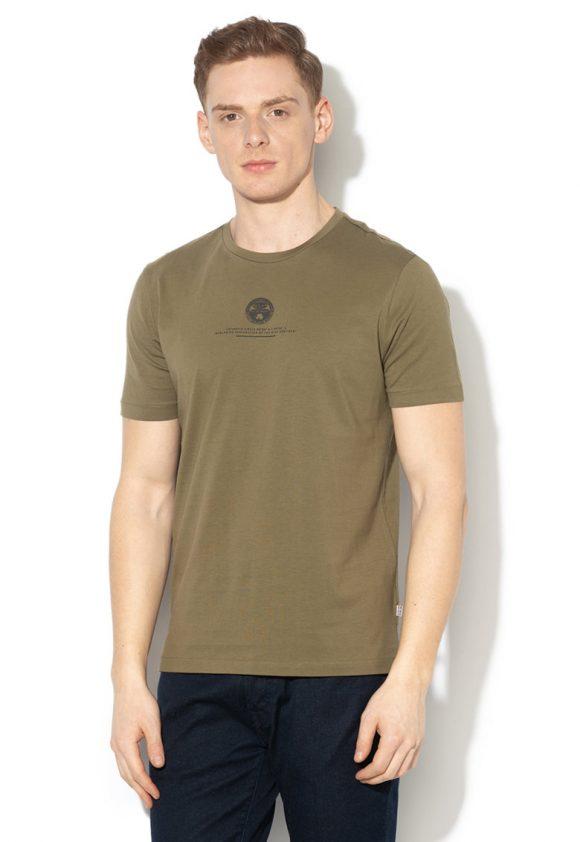 Tricou cu imprimeu logo si text Salme-tricouri-Napapijri