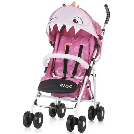 Carucior sport Chipolino Ergo pink baby dragon-Chipolino
