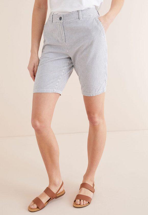 Bermude in dungi cu buzunare laterale-pantaloni si colanti-NEXT
