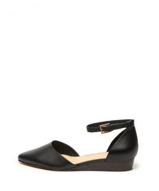 Pantofi d'Orsay de piele cu talba wedge Sense-pantofi clasici-Clarks