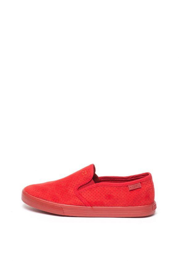 Pantofi slip-on cu detaliu logo brodat-tenisi-BIG STAR