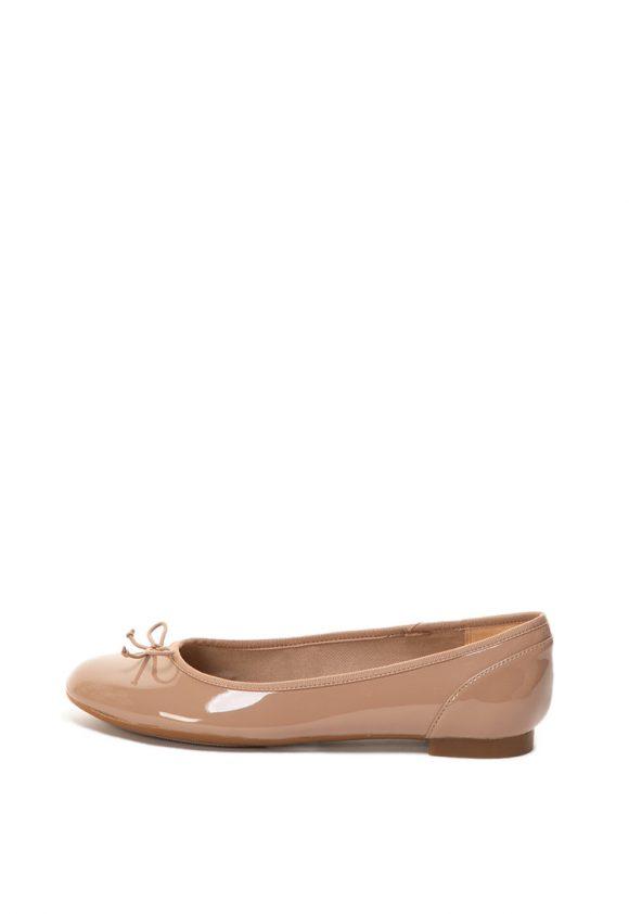 Balerini de piele ecologica lacuita Couture Bloom-Balerini-Clarks