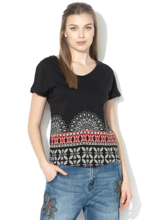 Tricou din amestec de modal cu strasuri Uma-tricouri-DESIGUAL