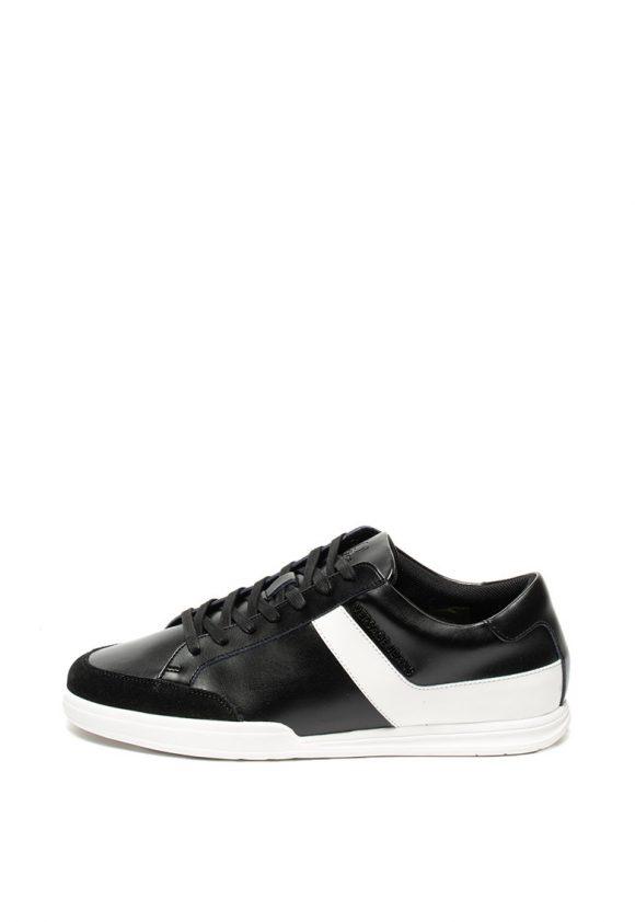 Pantofi sport de piele si piele intoarsa-tenisi-Versace Jeans
