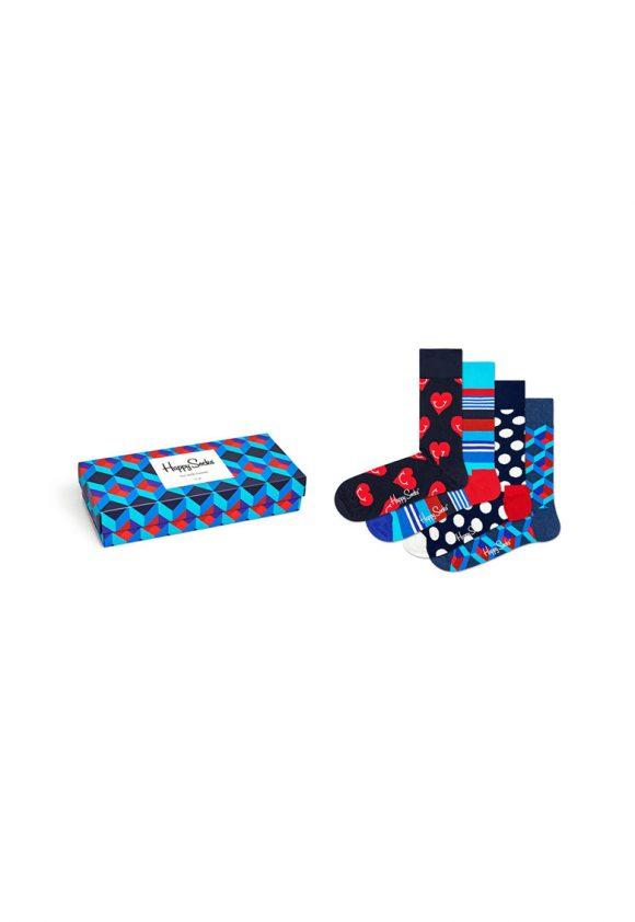 Set de sosete cu imprimeu - 4 perechi-sosete-Happy Socks