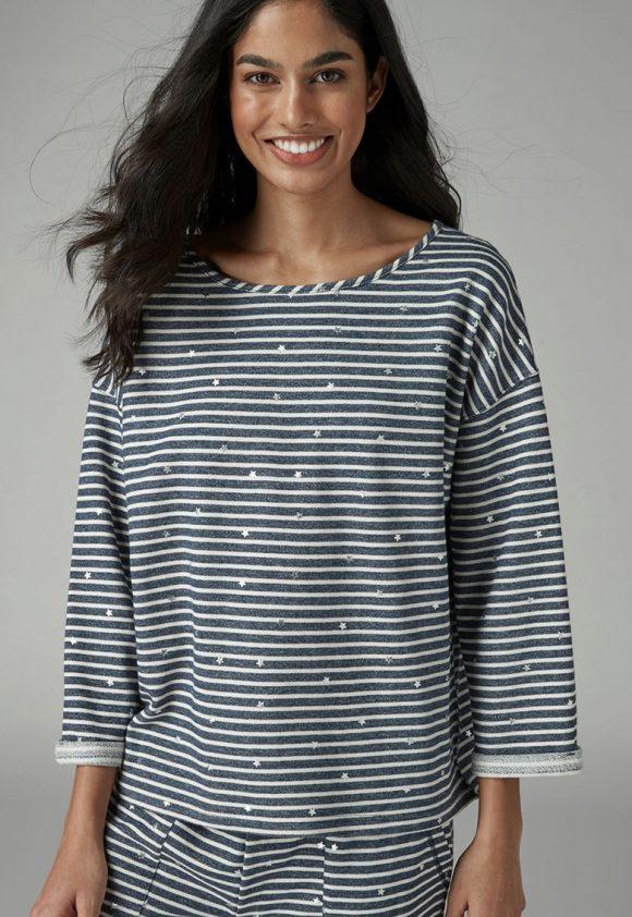 Bluza sport de casa - cu model in dungi-bluze-NEXT