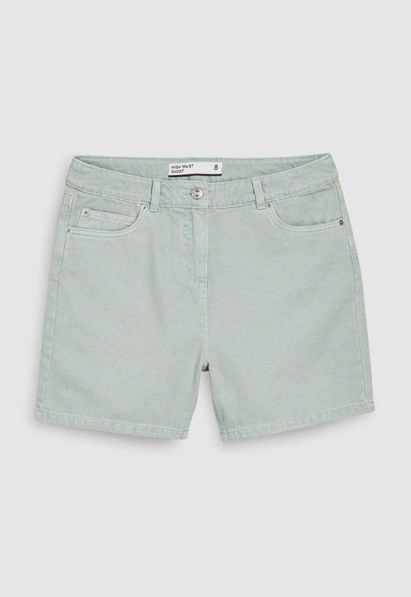 Pantaloni scurti de denim cu talie inalta-jeansi-NEXT