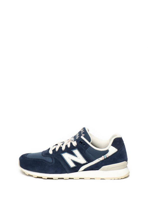 Pantofi sport cu garnituri de piele intoarsa 996-tenisi-New Balance