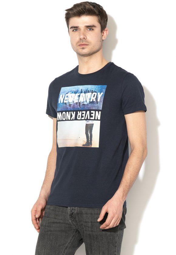 Tricou cu imprimeu grafic si text Aude-tricouri-BIG STAR
