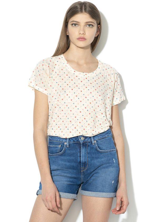 Tricou de in cu model cu buline Rapuntzel-tricouri-Pepe Jeans London