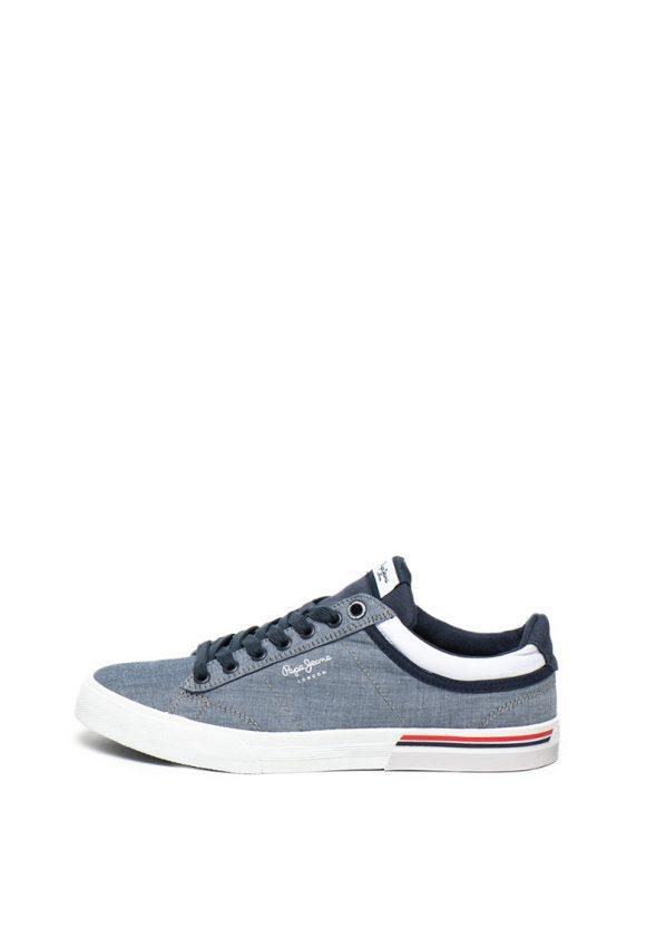 Pantofi sport din material textil North Court-tenisi-Pepe Jeans London