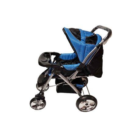 Carucior Landou si Sport Maner Reversibil Albastru-Supermarketul Copiilor