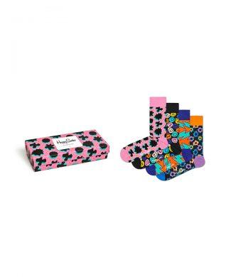 Set de sosete unisex cu imprimeu - 4 perechi-sosete-Happy Socks