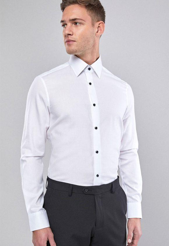 Camasa slim fit cu aspect texturat-camasi-NEXT