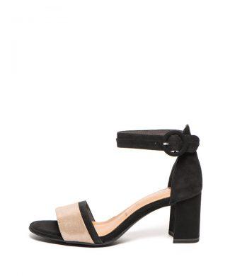 Sandale de piele intoarsa cu toc masiv-sandale-Tamaris