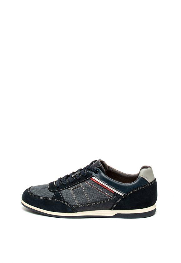Pantofi sport cu garnituri de piele Renan-tenisi-Geox