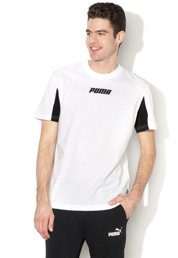 Tricou relaxed fit cu imprimeu logo Rebel-tricouri-Puma
