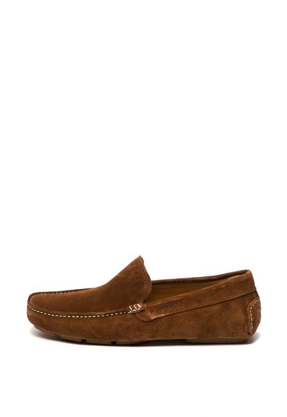 Pantofi loafer de piele intoarsa - cu logo stantat Austin-mocasini-Gant
